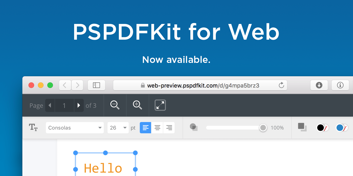 Illustration: PSPDFKit for Web