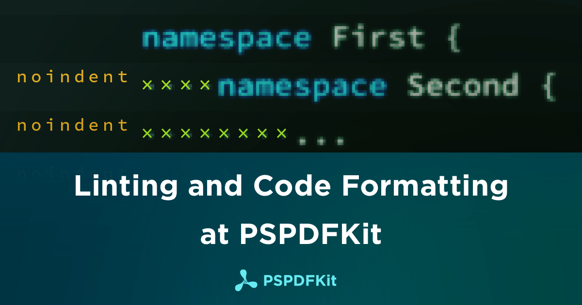 Illustration: Linting and Code Formatting at PSPDFKit