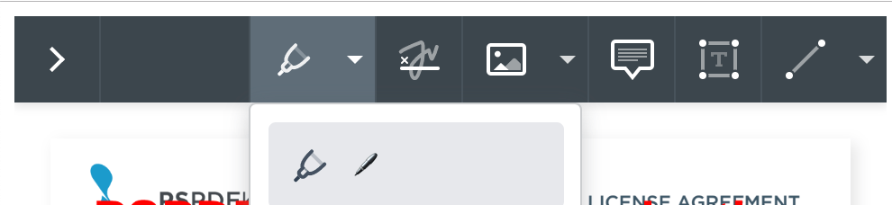 Localization main toolbar