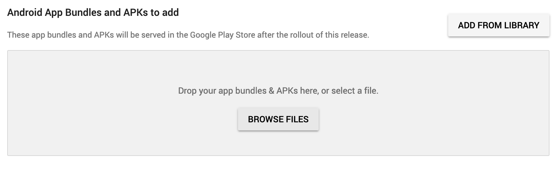 Uploading App Bundle