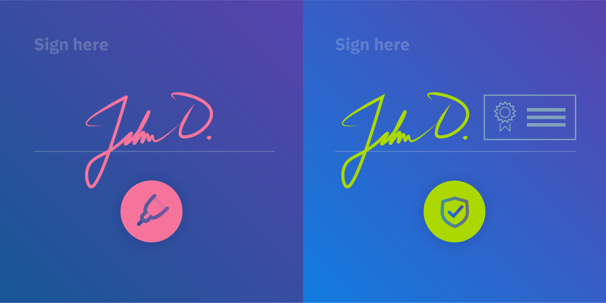 Illustration: Electronic Signatures in a PDF