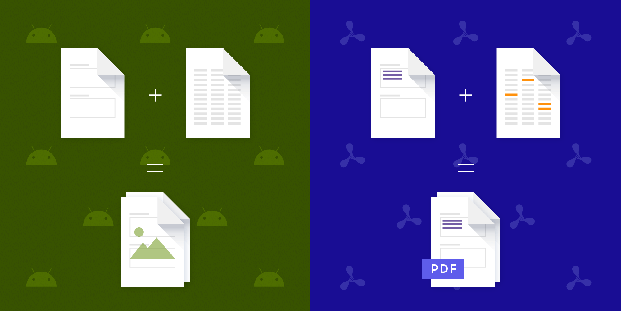 Illustration: Merge PDF Documents on Android