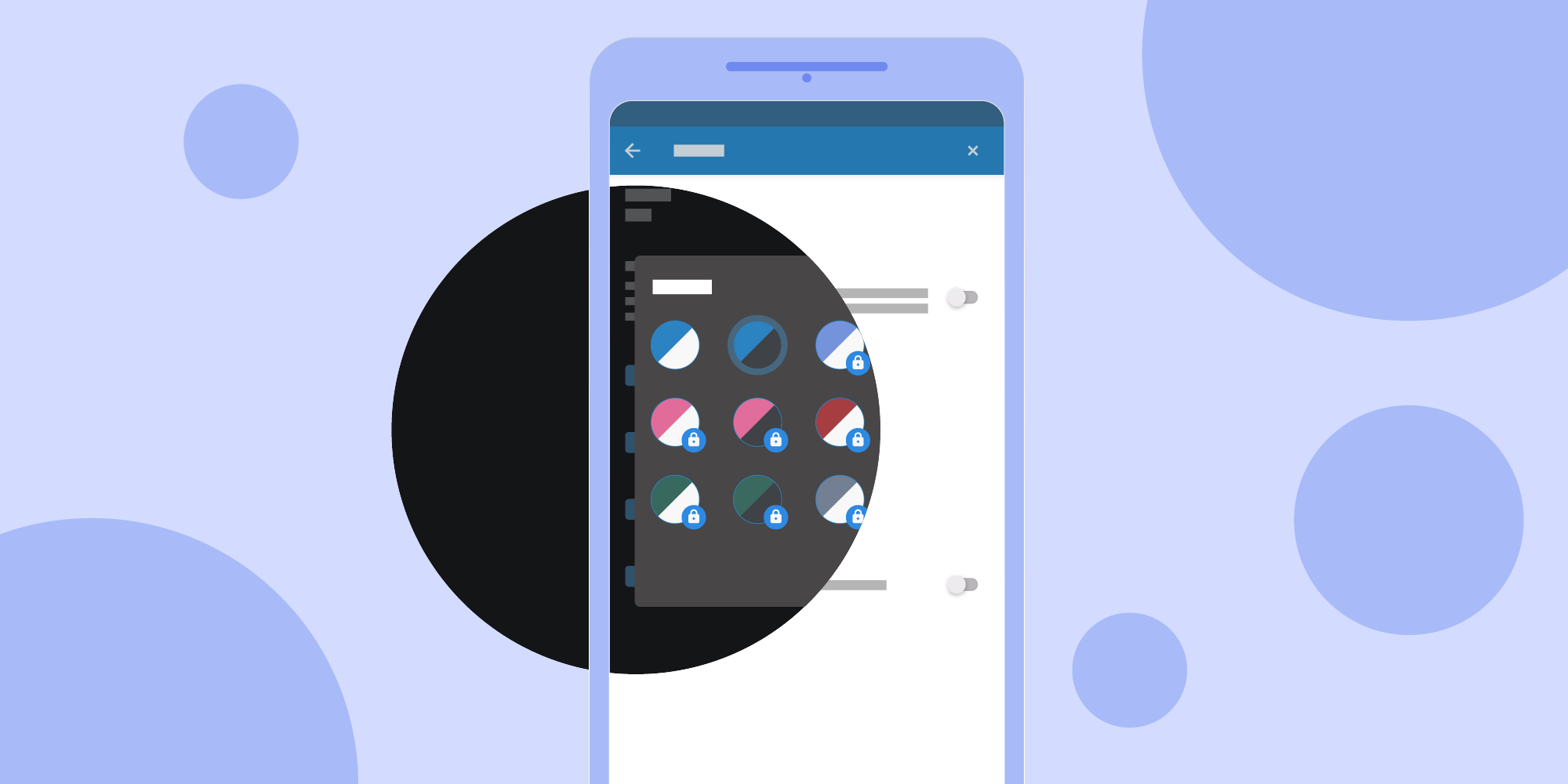 Illustration: Change Android Themes Instantly Using the Circular Reveal Animation