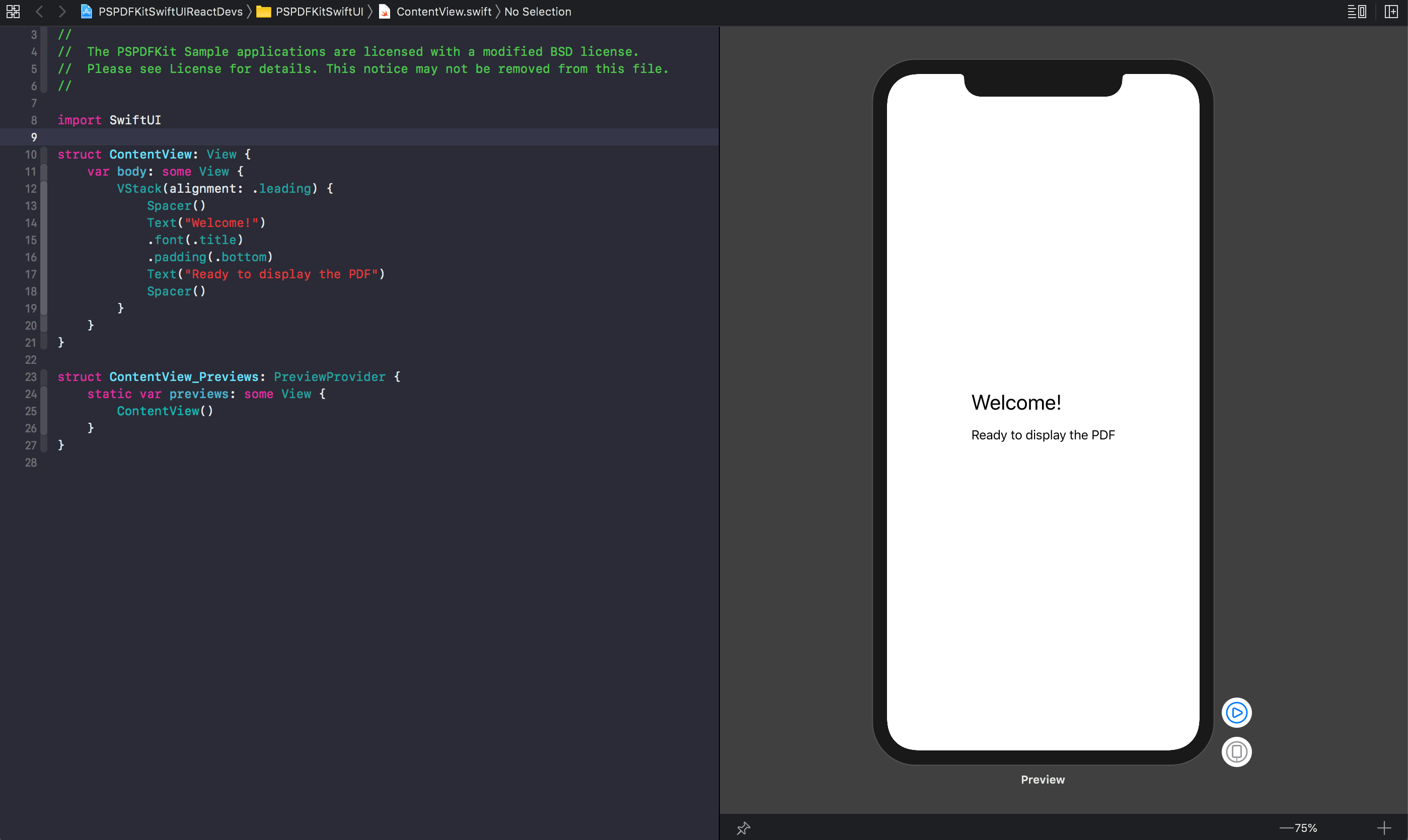 Design canvas on Xcode