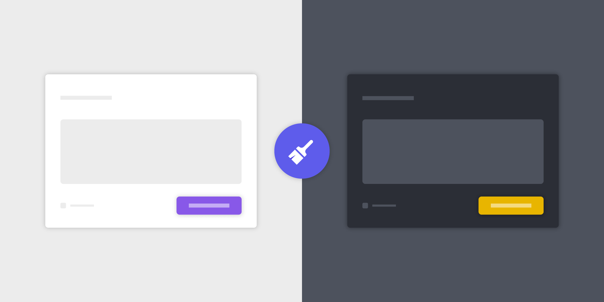 Illustration: UI Theming with CSS Variable Mapping