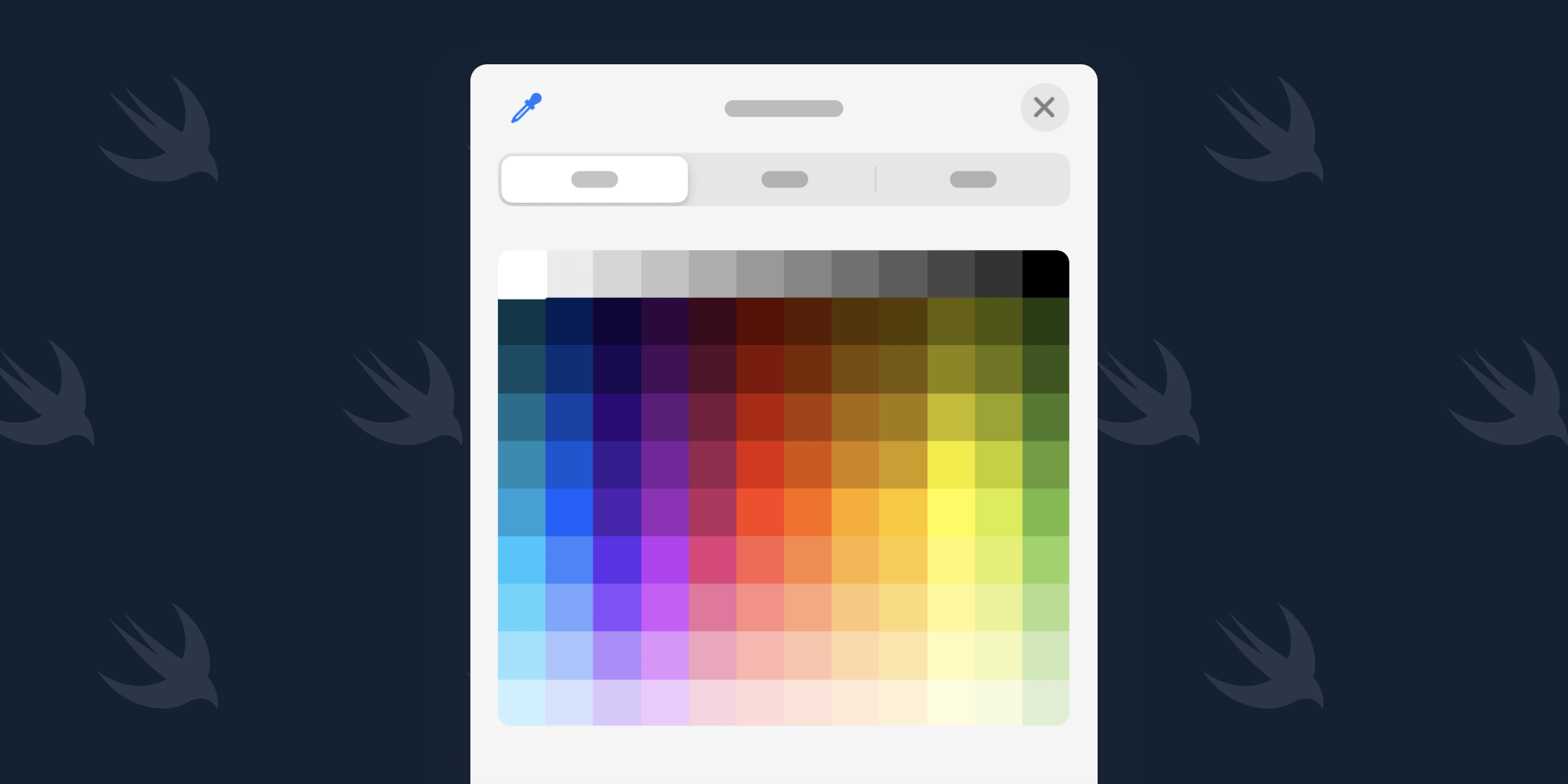 Illustration: Using the SwiftUI ColorPicker on iOS and macOS
