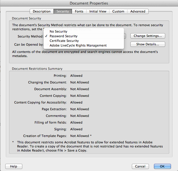 Adobe Security Dialog