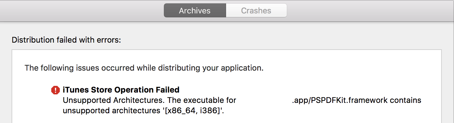 Xcode Submit Application Issue Window