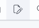 The document editor button from the main toolbar
