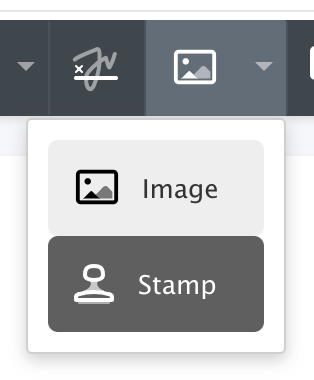 Stamp Annotation Templates Toolbar Button