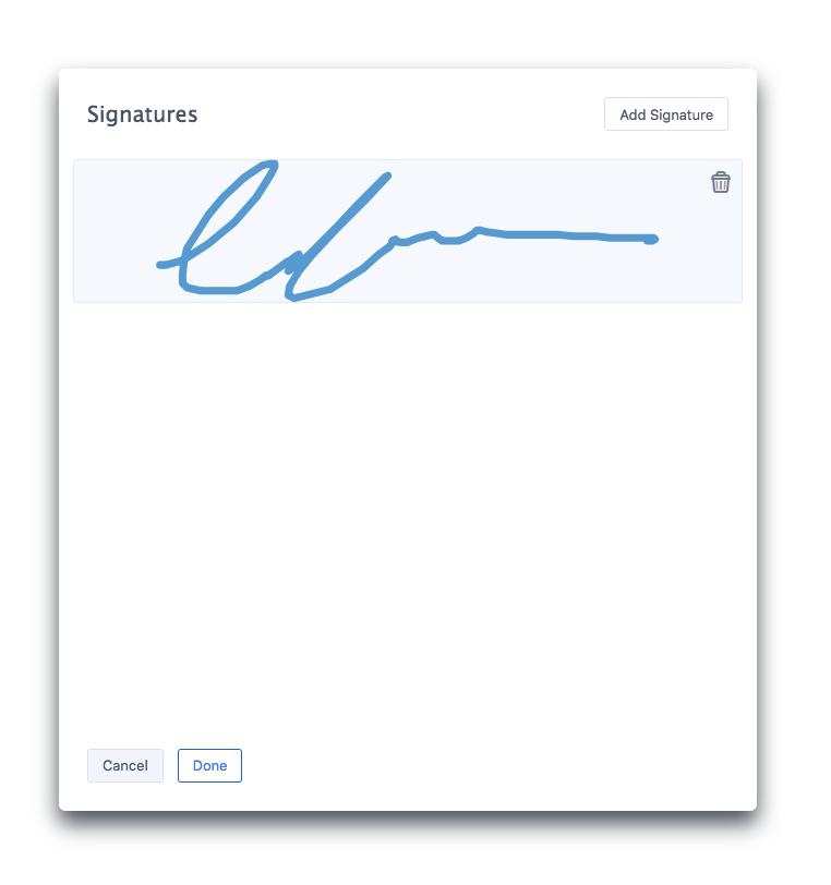 Signature Picker