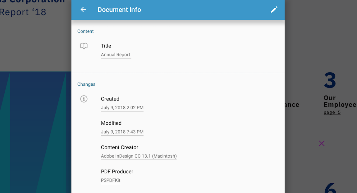 Document Info View