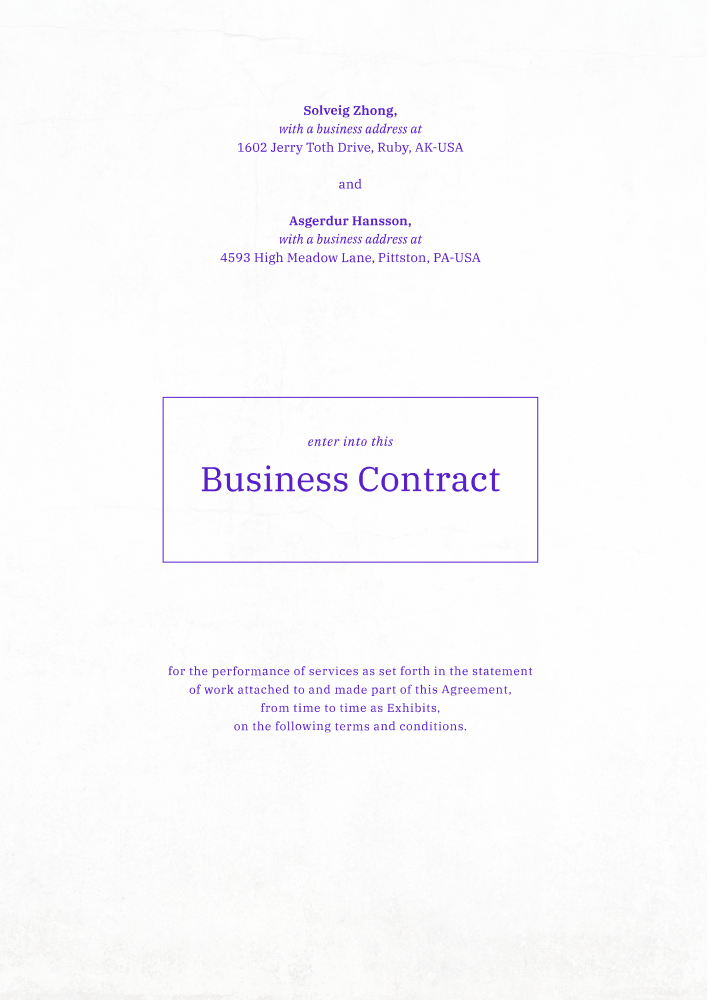 Processed document page one