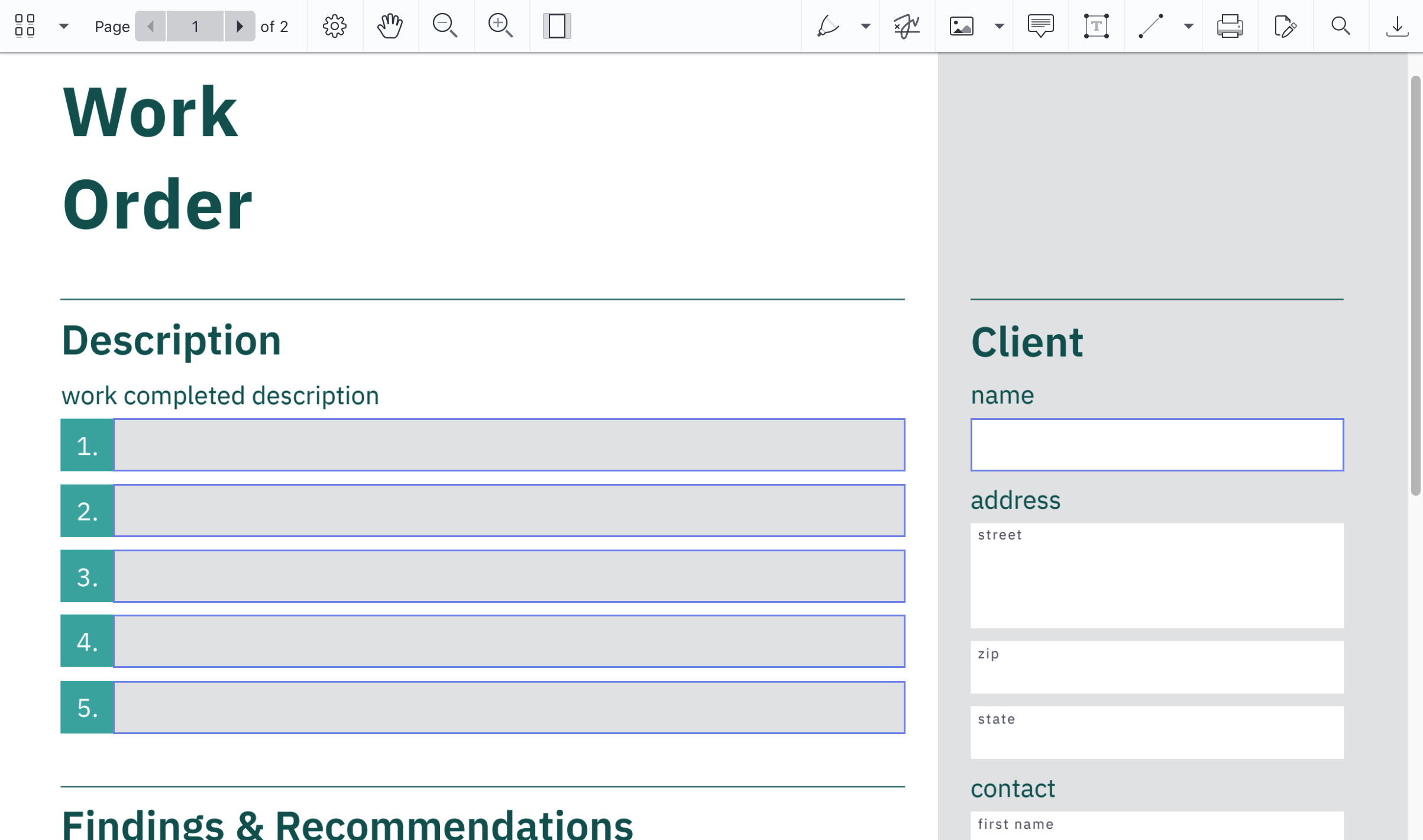 PSPDFKit for Web — PDF Web Viewer - Forms Feature